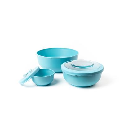 Set mit 3 Schalen Life 200 ml, 1000 & 2000 ml   Blau