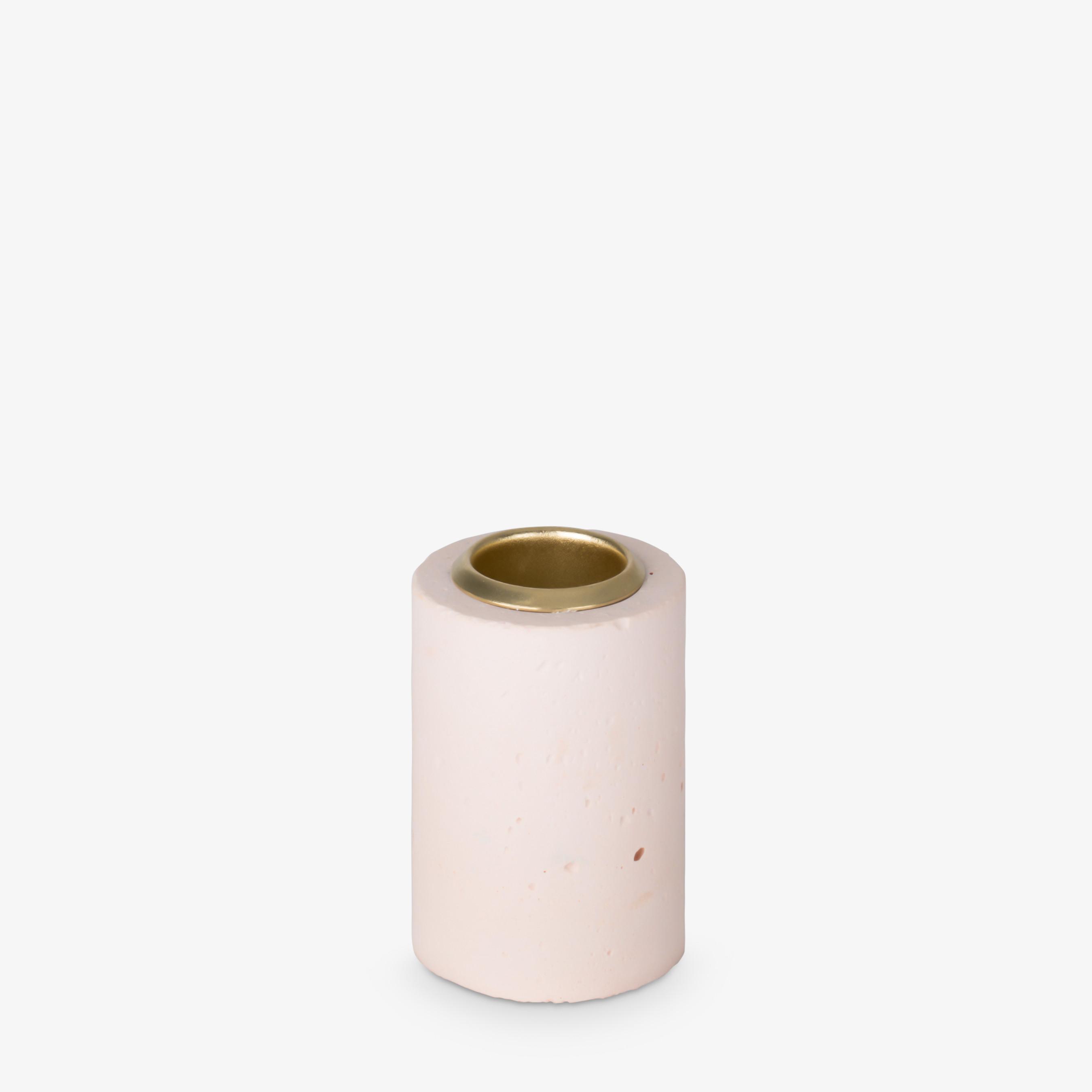 Kerzenhalter Tower 6x4 cm   Pastellpink