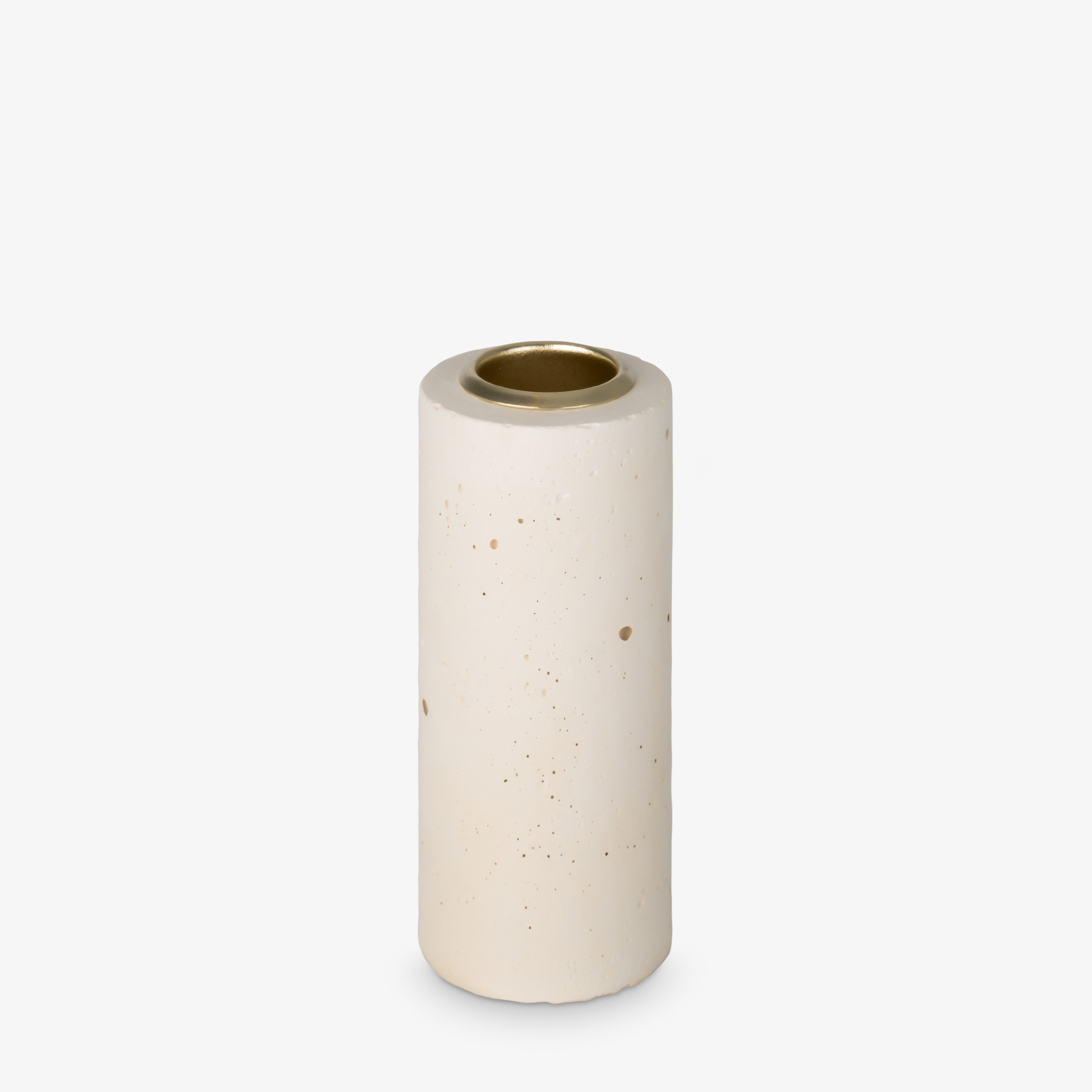 Kerzenhalter Tower 10x4 cm | Pastellgelb