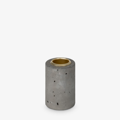 Kerzenhalter Tower 6x4 cm | Grau