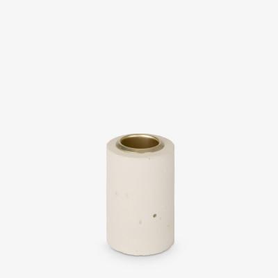 Kerzenhalter Tower 6x4 cm | Pastellgelb