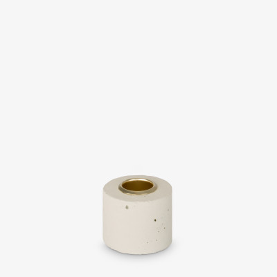Kerzenhalter Tower 4x5 cm | Pastellgelb