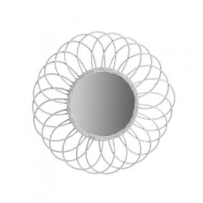 Spiegel Antigua   Rattan Weiß