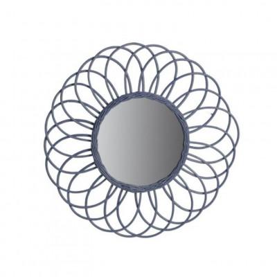 Spiegel Antigua   Rattan Grau