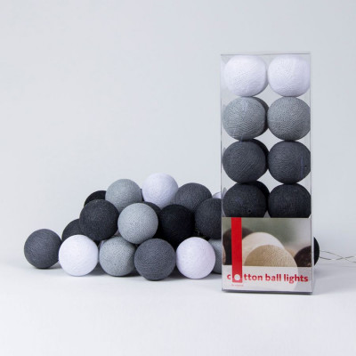 Cotton Ball Light String | Antra