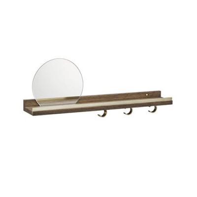 Überall Regal mit Spiegel | Eiche geräuchert