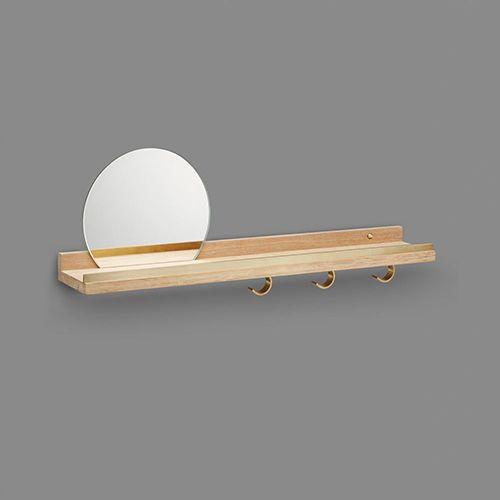 Anywhere Shelf with Mirror | Oak