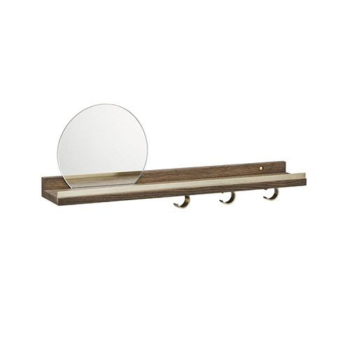 Anywhere Shelf with Mirror | Smoked Oak