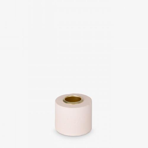 Kerzenhalter Tower 4x5 cm | Pastellpink