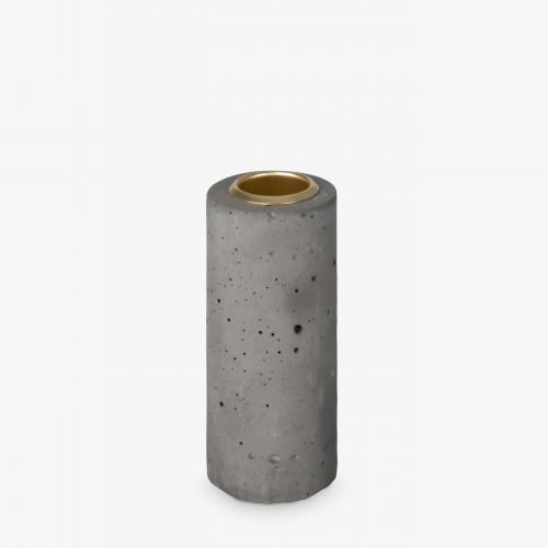 Kerzenhalter Tower 10x4 cm | Grau