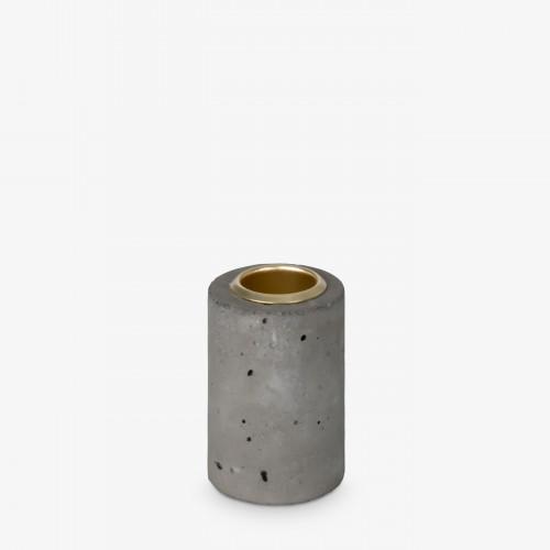 Kaarsenhouder Tower 6x4 cm | Grijs