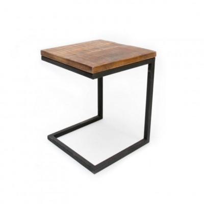 Beistelltisch Laptop Classic   Mango-Holz - Schwarzes Metall