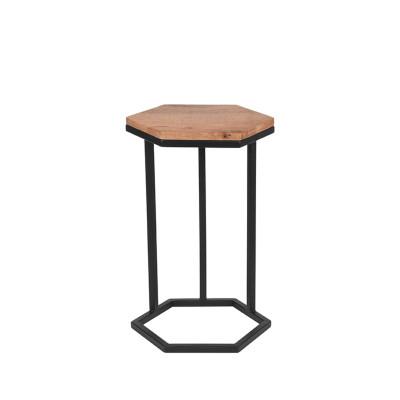 Laptop-Tisch Hexa   Mangoholz - Schwarzes Metall