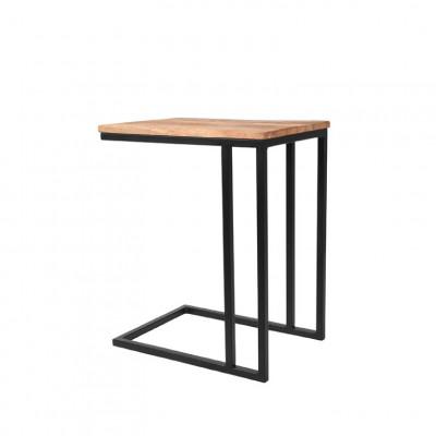 Laptop-Tisch Rechteckig   Mangoholz - Schwarzes Metall