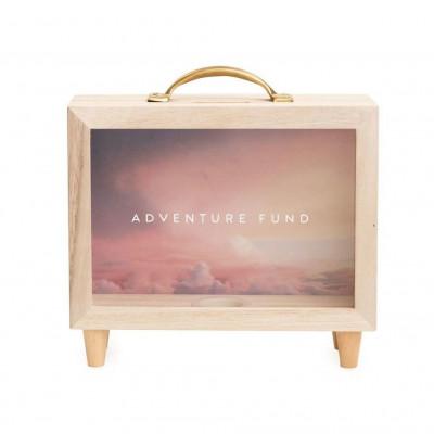 Adventure Fund Wooden Money Box