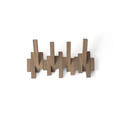 Wall Mount Coat Rack | Natural Oak Wood