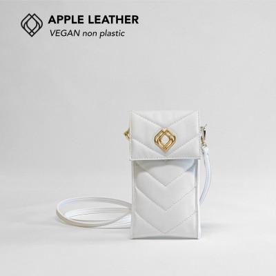 Handytasche - Apfelleder   Weiß