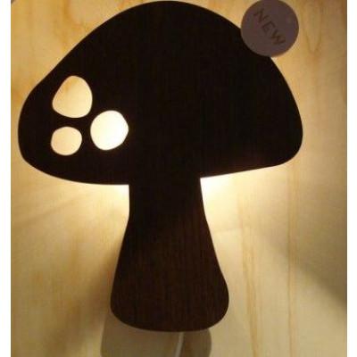 Pilz-Holzlampe