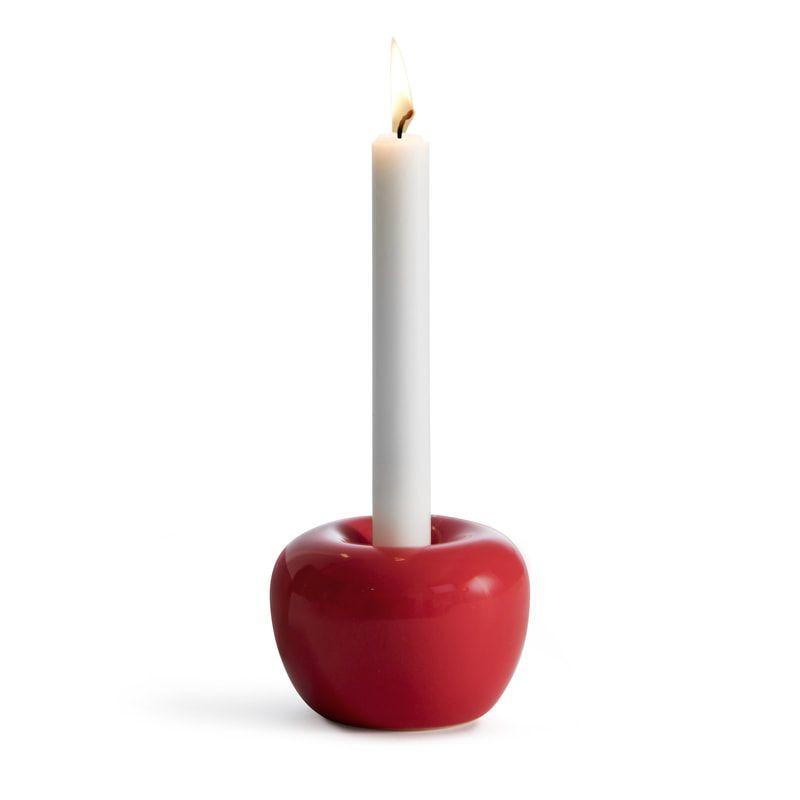Apfel-Kerzenhalter | Rot -M