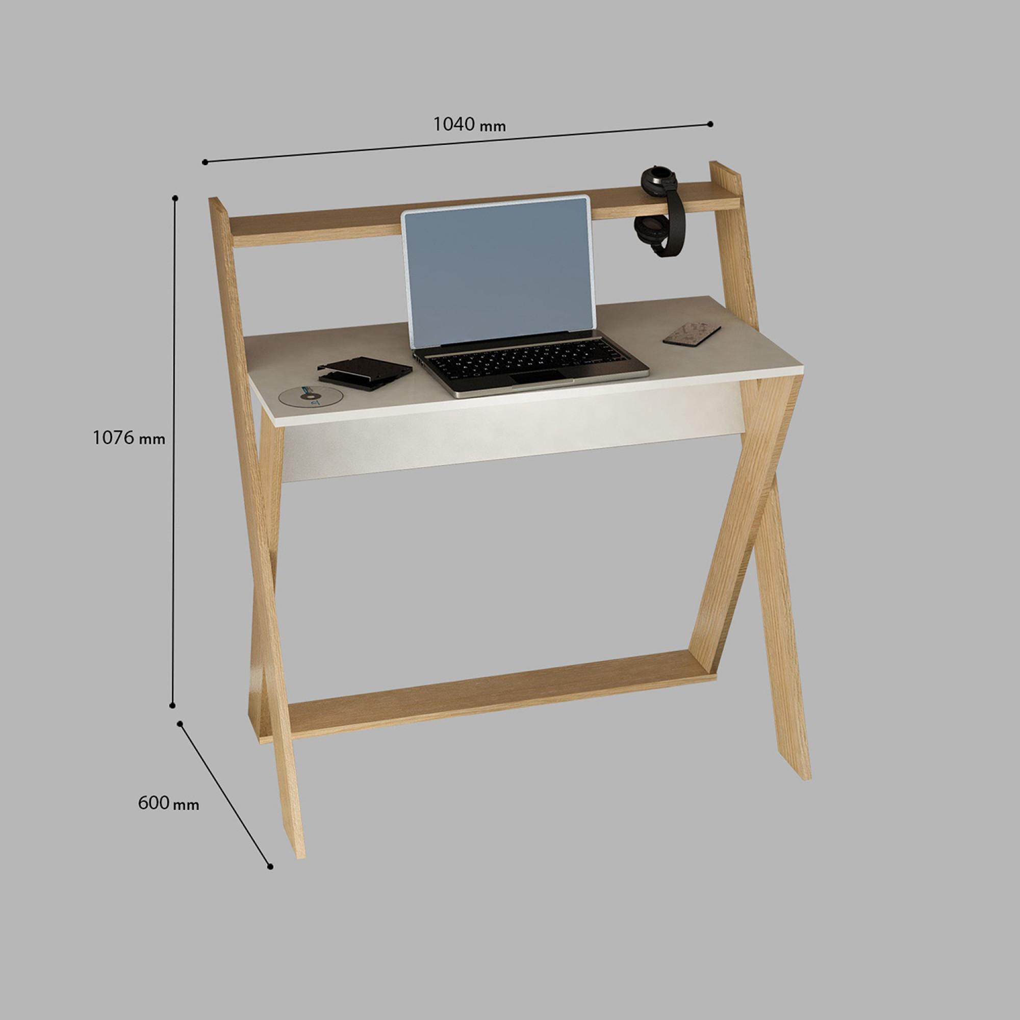 Schreibtisch Terra   Weiße Eiche