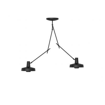 Deckenleuchte Arigato Doppel | Schwarz