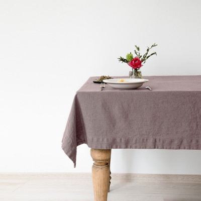 Tischdecke 250 x 140 cm | Rosenasche