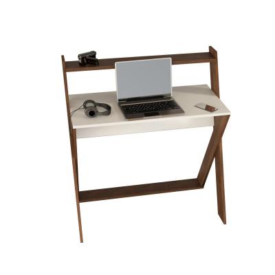 Schreibtisch Terra | Weiß-Walnuss