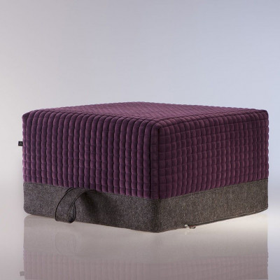 The Ottoman S | Plum-Cold Taupe