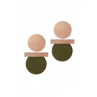 Relic Spirit Earrings | Copper & Khaki