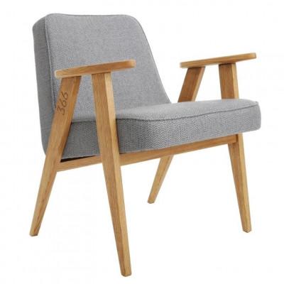 Sessel 366 Tweed | Natürliche Eiche & Grau