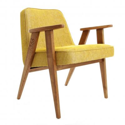 Armchair 366 Loft | Dark Oak & Mustard Yellow