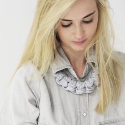 Textile Necklace Art. 01 | Light Grey