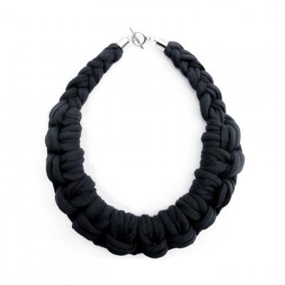 Textile Necklace Art. 01 | Black