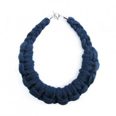 Textile Necklace Art. 01 | Dark Blue