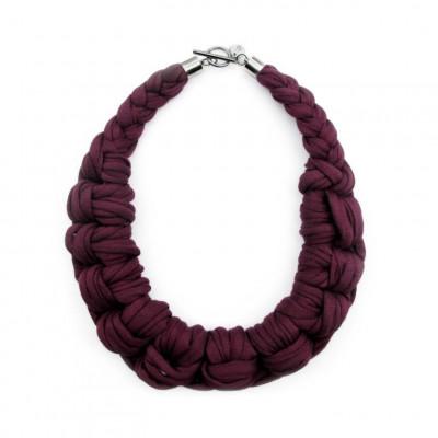 Textile Necklace Art. 01 | Purple