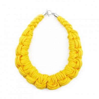 Textile Necklace Art. 01 | Yellow