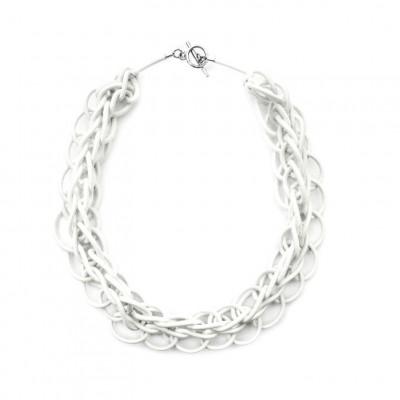 Textile Necklace Art. 02 | White