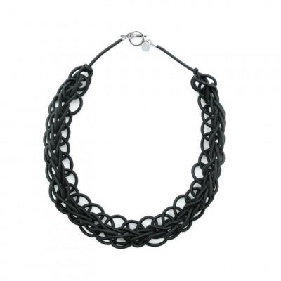 Textile Necklace Art. 02 | Black
