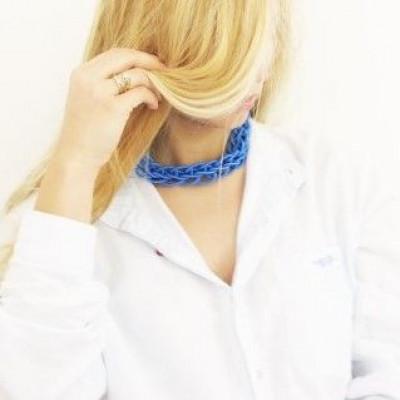 Textile Necklace Art. 02 | Blue