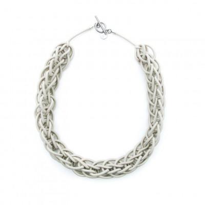 Textile Necklace Art. 02 | Cream