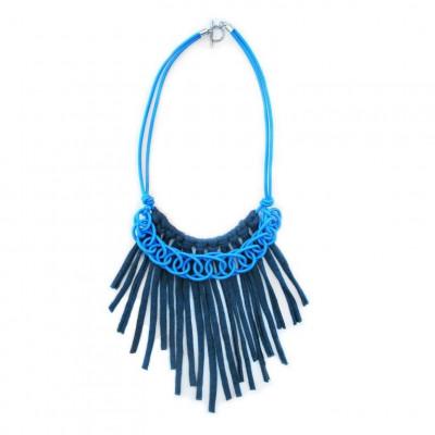 Textile Necklace Art. 03 | Blue