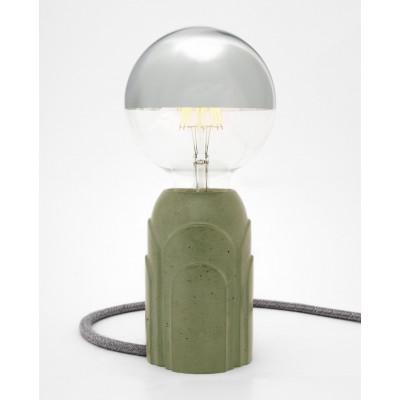 Concrete Table Lamp #Art Deco | Mint Green