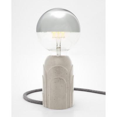 Concrete Table Lamp #Art Deco | Grey