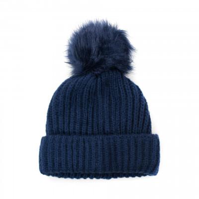 Mütze mit Pompom | Navy