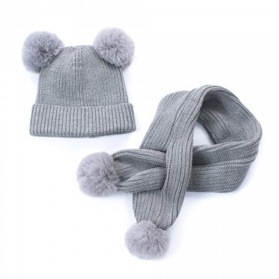 Mütze und Schal Kids | Grau