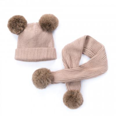 Mütze und Schal Kids | Beige