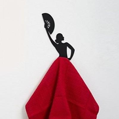 Olé Hook Kitchen Towel Hanger   Black