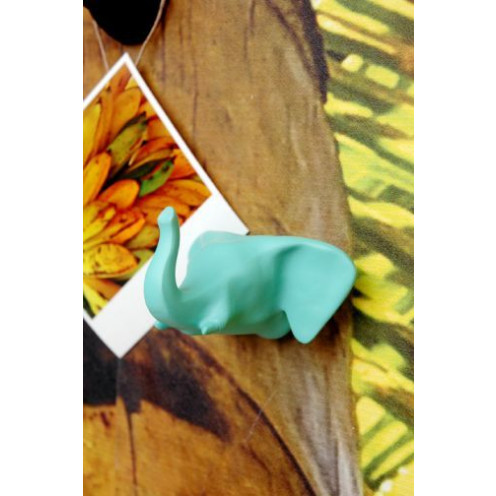 Elephant Coat Hook | Aqua