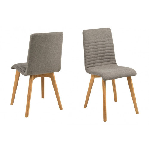 Set of 2 Chairs Arosa | Grey