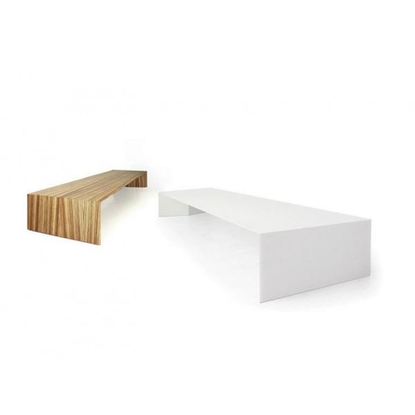 Beistelltisch Bogen niedrig | Weiß
